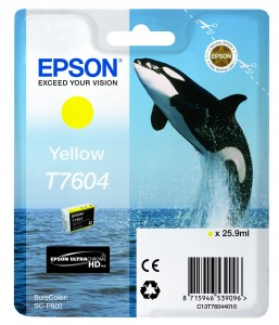 Atrament Epson T7604 Yellow