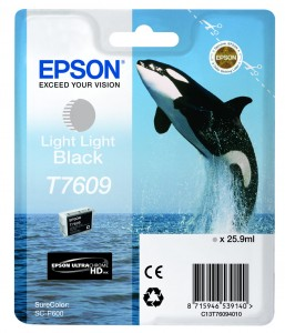 Atrament Epson T7609 Light Light Black